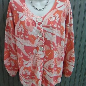 A Lane Bryant Button down Sweater/Jacket Size 3X